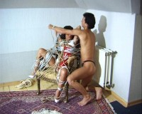 BASEMENT HOGTIED SLAVES BONDAGE TORTURE