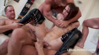 Used and Abused Timea Bela manhandled by 4 boys with Tap Dap Squirting (2016)