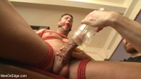 Straight Jock Begs to Cum with a Dildo in his Ass