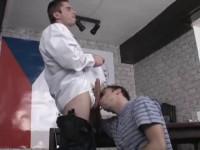 Top Cops - first scene, sucking dick, blow job, huge dick, guys get