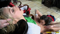 Hottie Invites Her Girlfriends For Some Serious Pampering