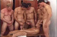 Mandatory Pictures-Gang Bang Jocks (double penetration, locker room, guys, gang bang)