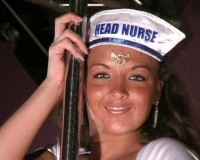 Striptease by nurse