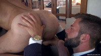 Fuck boss in two trunks! (take turns, anal sex, hard dick).
