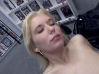 Blonde's in-store banging