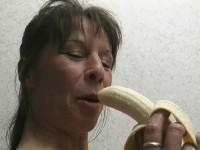 Banana is reason for blowjob