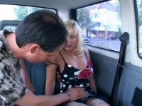 Car sex for blondie