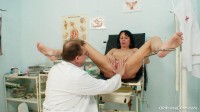 see: vitals checkup, throat exam, palpation, pussy exam with fingers, pussy gaping, breast pump, puss