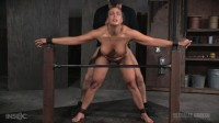 Angel Allwood BaRS show continues with a spit roasting on hard cock, brutal BBC deepthroat!