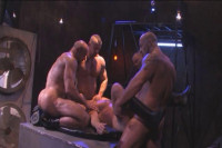 Brutal bodybuilders in hard gangbang