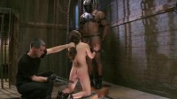Slave training for a cute brunette 2 of 4