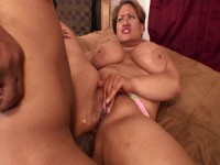 Chubby Latina anally testing Shorty's fat black cock