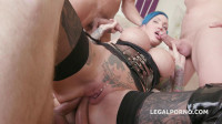 Ink Slut In 5on1 gangbang with DAP