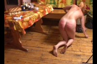 Continued hard spanking girls from families fists in Russian villages