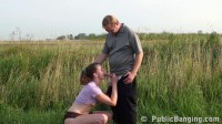 Man fuck a girl in the field