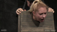 SexuallyBroken - Mar 18. 2016 - Tiny blonde Odette Delacroix bound inside a boxs
