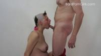 Bald headed pregnant slut