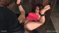 Devilynne bound in half tag team fucked huge cock, finished off fucking machine! (2016)