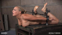 Angel Allwood — Blond MILF is hogtied and face fucked into oblivian