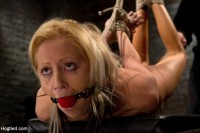 Kink: Hogtied - Hot flexible blond suffers a Category 5 suspension. Anal hook, heavy nipple weights, made to cum.