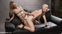 Pervy Photographer: Hot babe bound, spanked, & anally strap-on fucked!