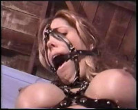 Here's a pretty hot lady, naked and bound by a horny master
