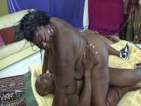 Ebony BBW with enormous tits got banged