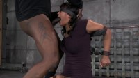 Mia Li gets bound and face fucked by BBC, brutal deep throat on 2 dicks, epic throat training!