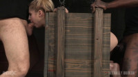 Tiny Blonde Bound Inside A Box & Roughly Fucked
