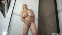 Buxom Hairy Latina Takes A Shower