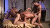 Muscle Men In Interracial Gangbang
