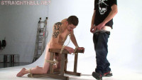Terry4-l - Gagged, nipple clamped and anal hooked into nasty bondage