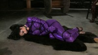 O-girl awakes to find she is tied in a cynastic bondage web that slowly