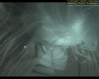 Curly Girl In Nightvision Video