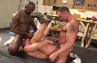 Bareback Wood Workers (Flex Deon Blake) (classic, sex, man)