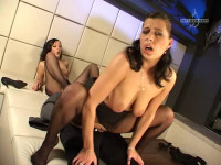20 Den Horny girls fucked in pantyhose