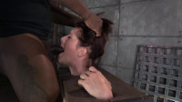 Cici Rhodes tightly bound in stocks on sybian, epic rough messy deepthroat on BBC!