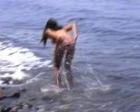 Masturbating nudist