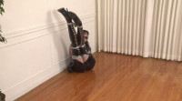 Bound and Gagged -Boots and Shiny PVC in Bondage - Ikaras ties Mary Jane