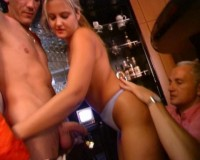 Gangbang In The Bar