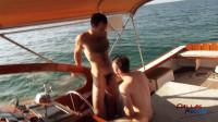 Maxx Fitch Barebacking Andrew Collins in a Boat Trip