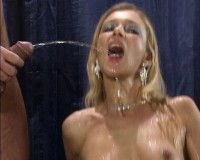 Hot babe gets soaked