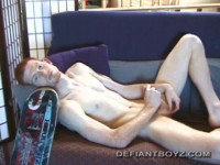 Twink Self Cum Facial - cock, strip, english...