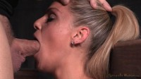 Breast bondage and facefucked by big cock