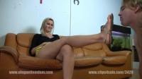 Elegant Femdom Sandal Licking