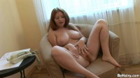 Beautiful chesty redhead toys bush