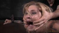 Tattooed hottie bent in half in belt bondage and roughly fucked