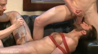 Bound Abel Archer Cums w/o Even touching his cock!