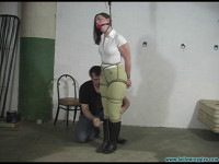 Equestrian disciplined with tight bondage and a Tighter gag — Part 1