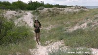 HotKinkyJo - Sexy soldier at baltic dunes